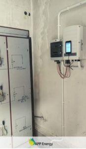 inwerter zamontowany w instalacji fotowoltaicznej w ZDZ w Kraśniku