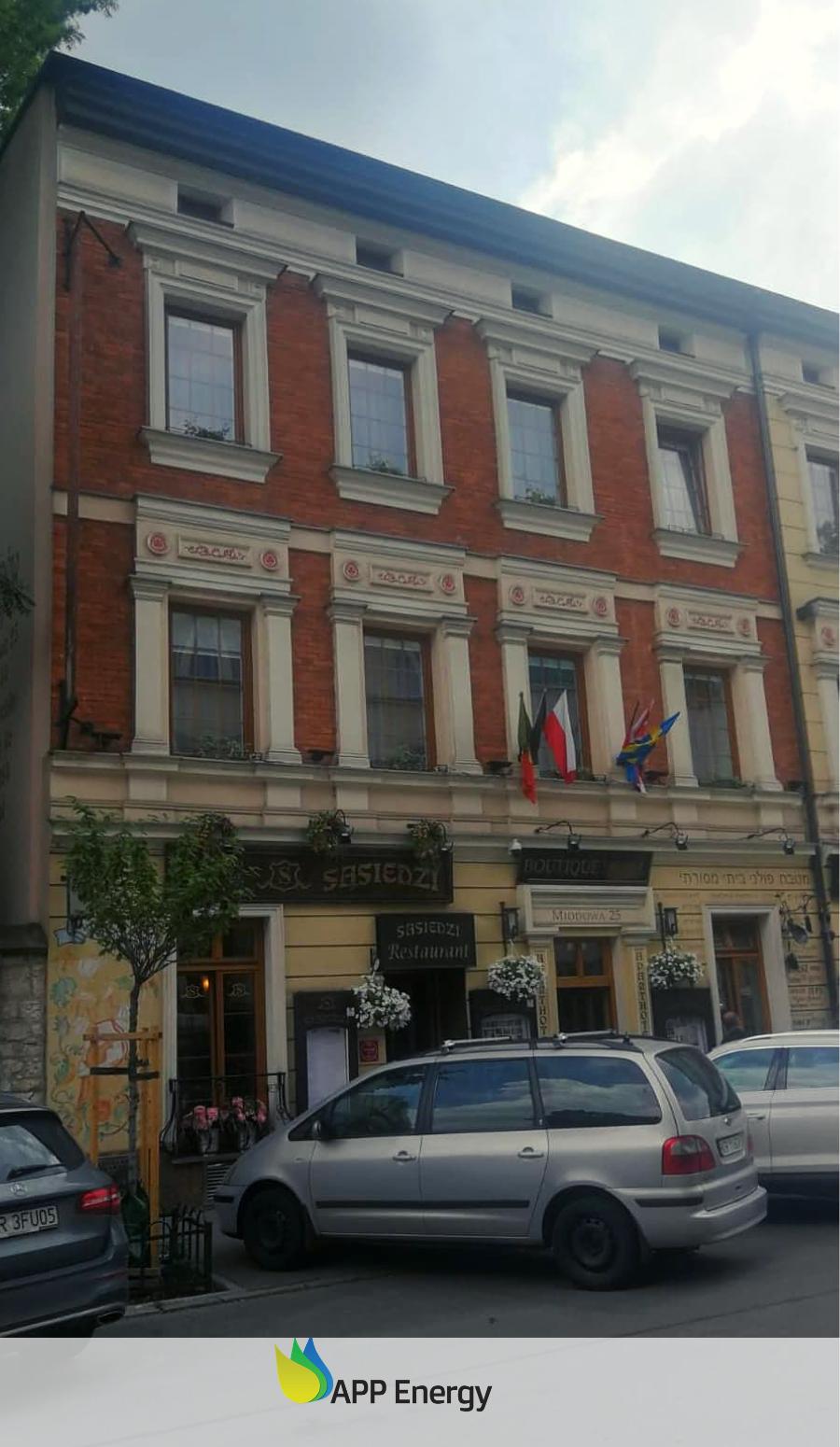 hotel i restauracja na krakowskim Kazimierzu, które skorzystały z montażu instalacji fotowoltaicznej przez APPenergy