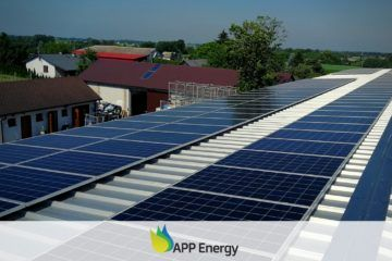 Moduły fotowoltaiczne zamontowane przez APP Energy